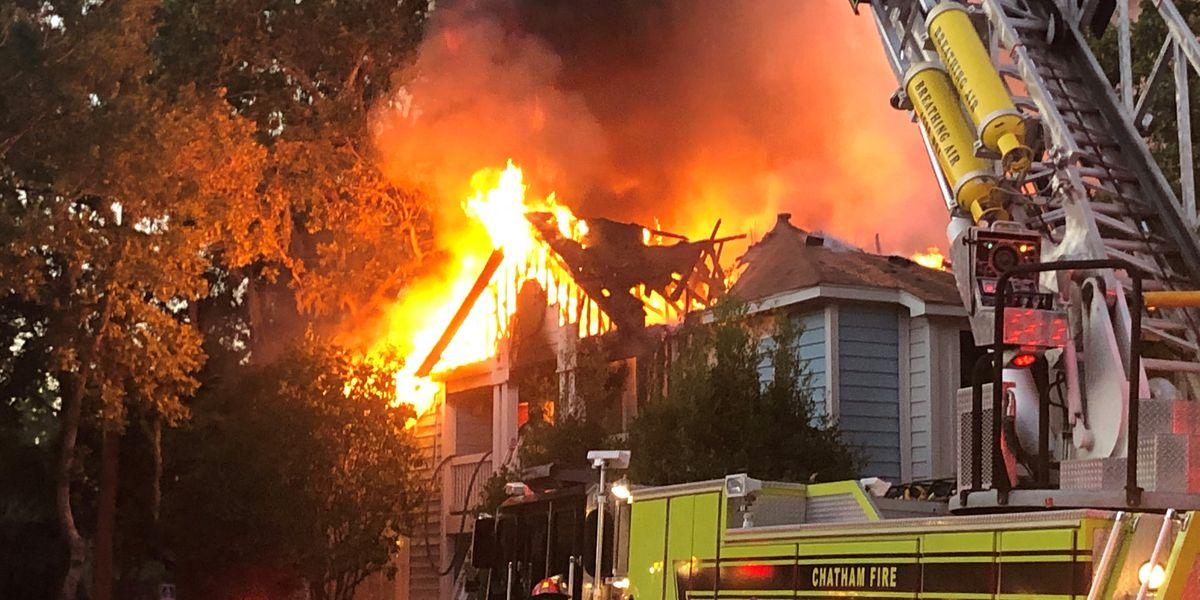 Fire destroys apartment building at River Walk Apartments in Georgetown
