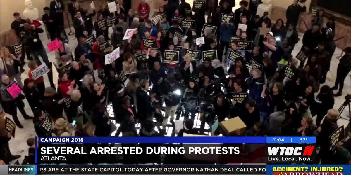 Over dozen arrested during protests at Georgia Capitol