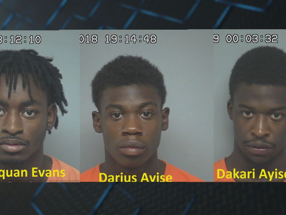 3 suspects arrested, charged with armed robbery on St. Helena Island