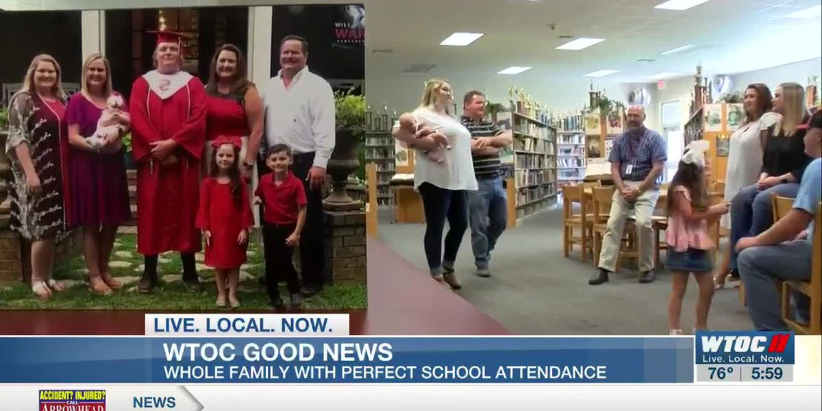 Good News: Screven Co. family with perfect attendance