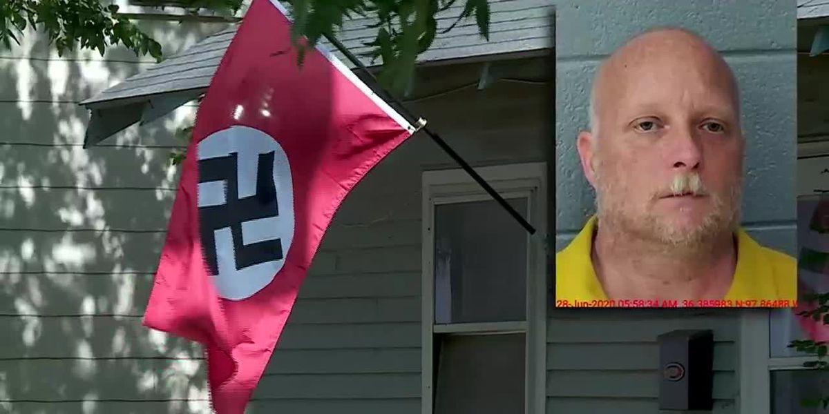 Sheriff: Oklahoma man shoots woman who tried to steal his Nazi flag