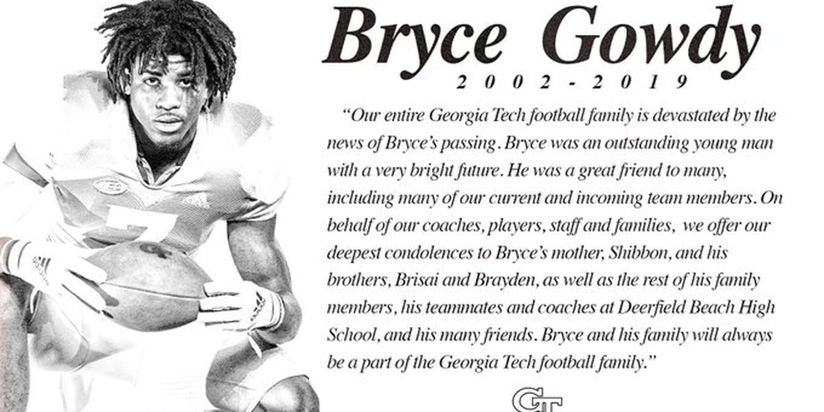 Georgia Tech signee Bryce Gowdy dies after being hit by freight train