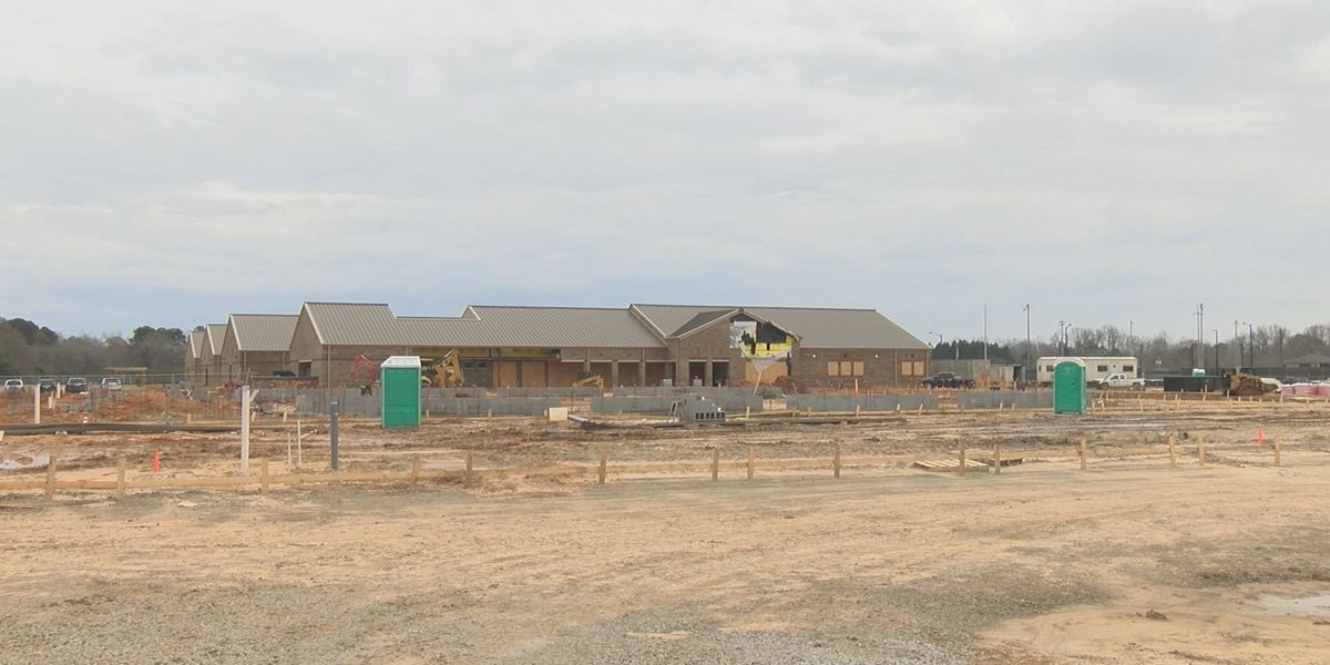 Construction for new Claxton High School ahead of schedule