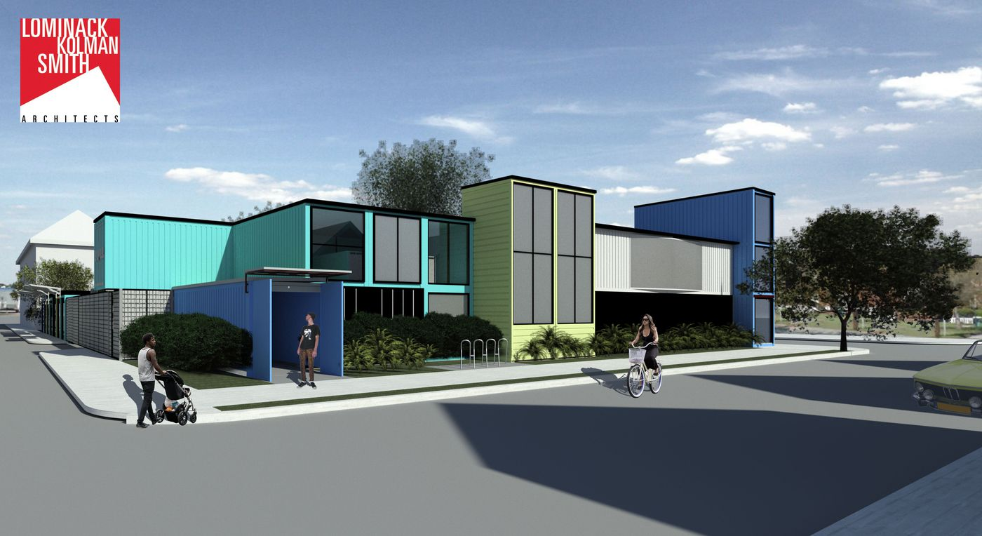 New Starland District development using shipping containers