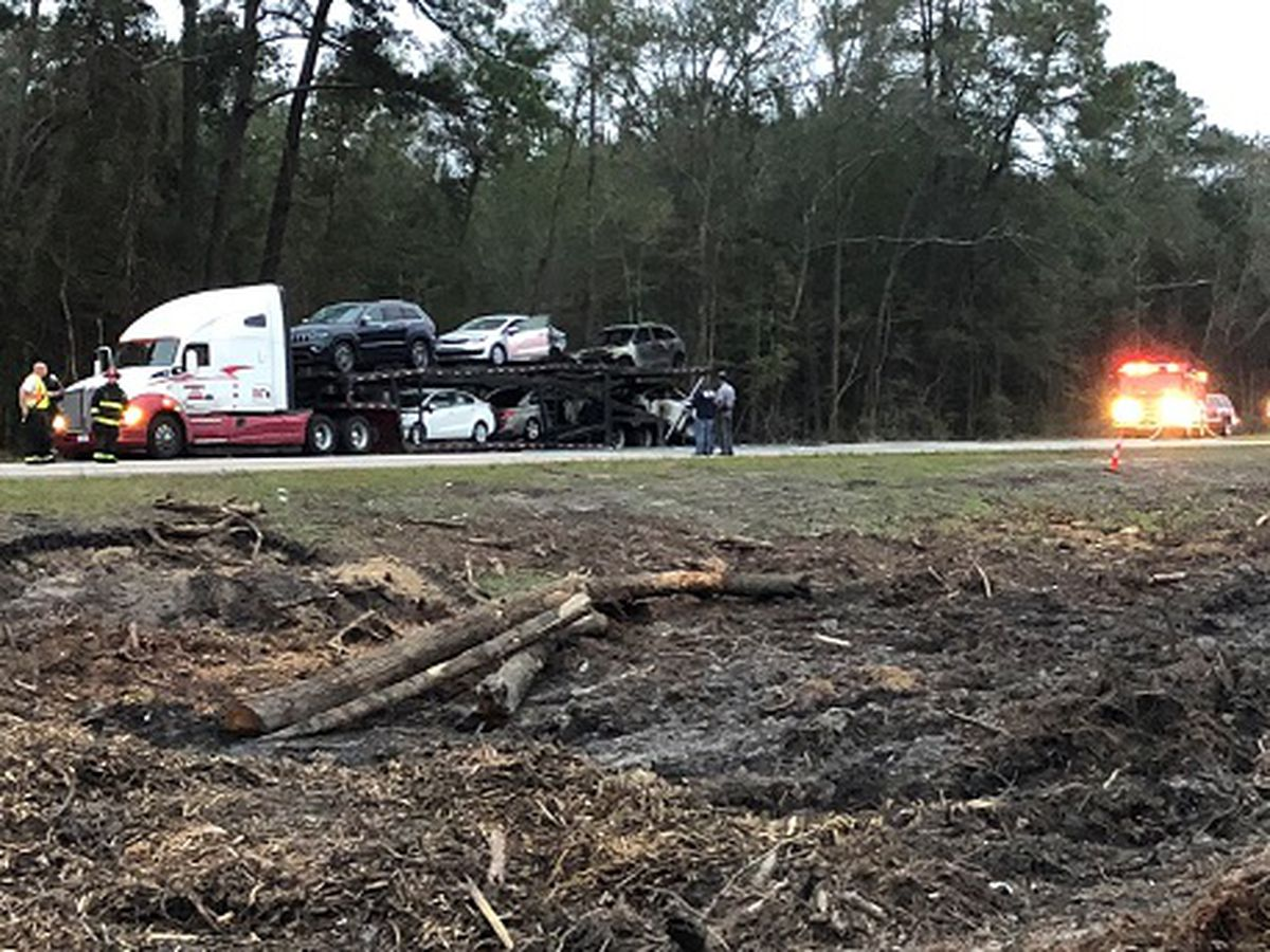 I-95 SB closed between Ridgeland, Hwy 278 in SC after semi catches fire