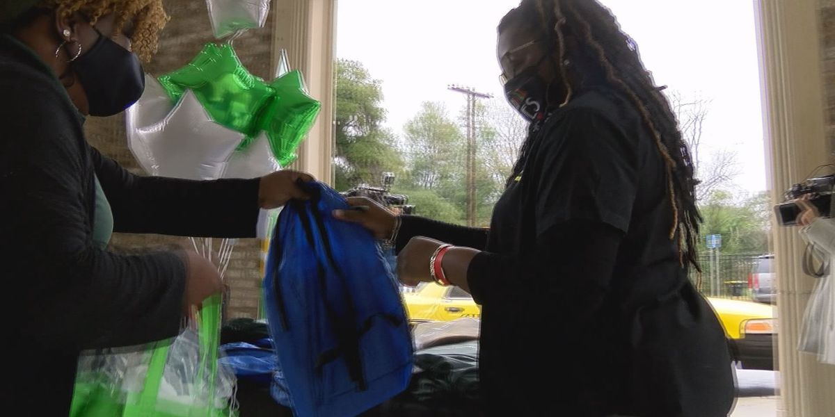 Company helps provide school supplies to students at Haven Elementary