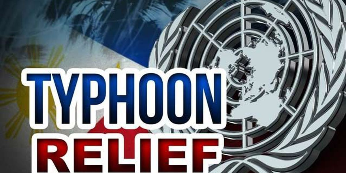 A list of organizations for typhoon relief