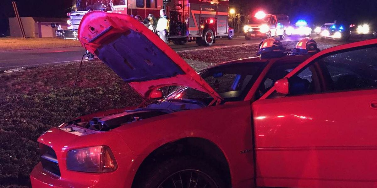 One person taken to hospital after wreck on Laurel Bay Road Saturday night