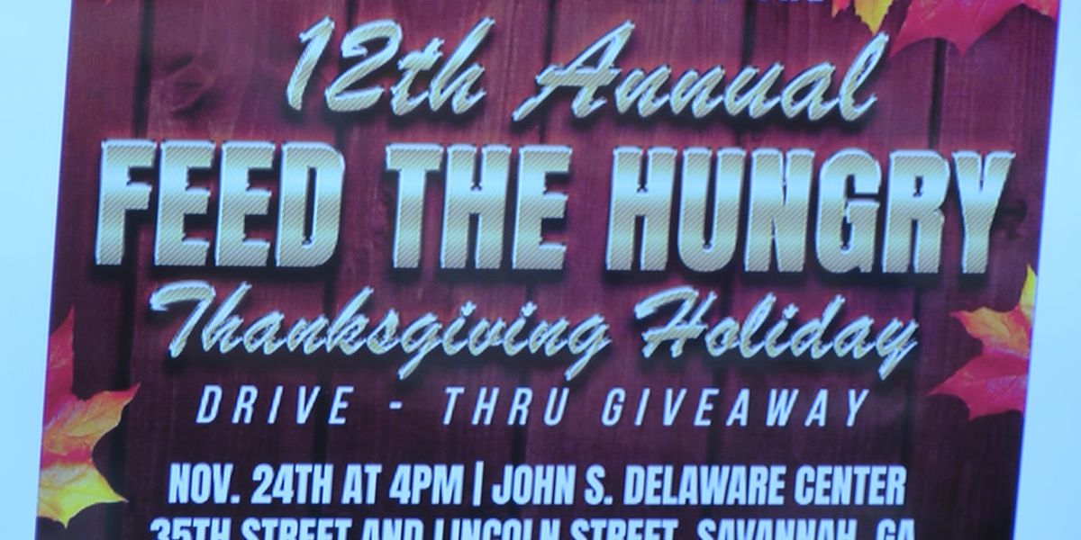 Feed the Hungry holds annual Thanksgiving meal as drive-thru giveaway