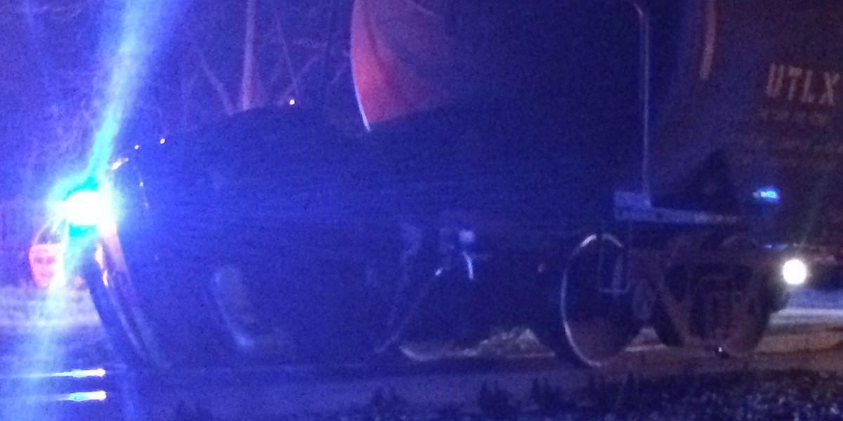 Car possibly hit by train on Main St. in Garden City