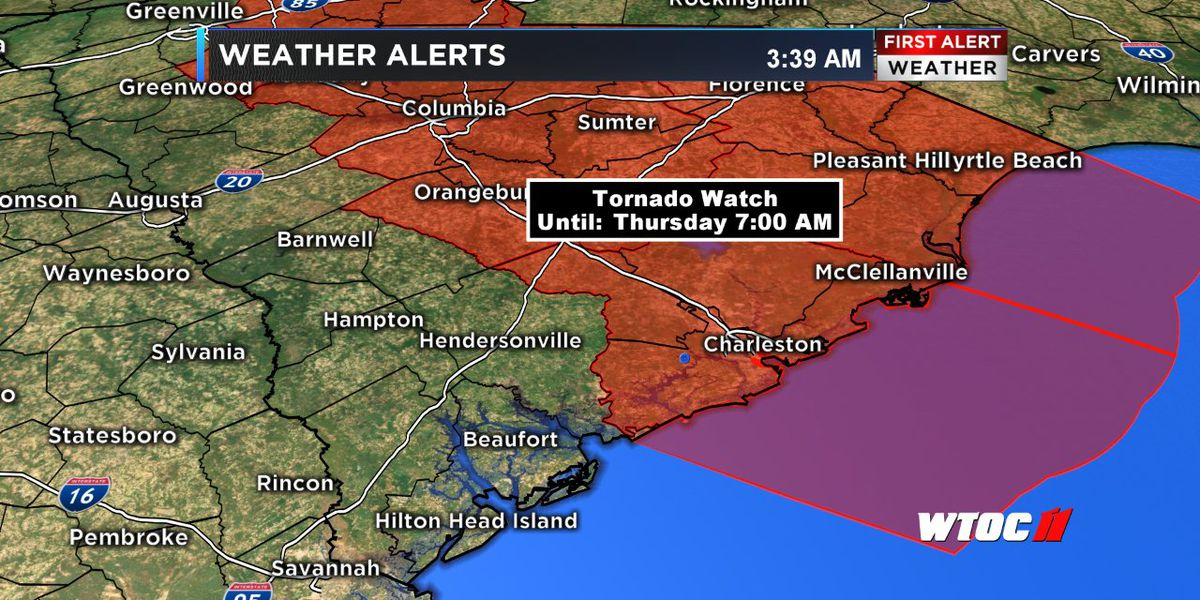 Tornado Watch expired early for our Lowcountry counties