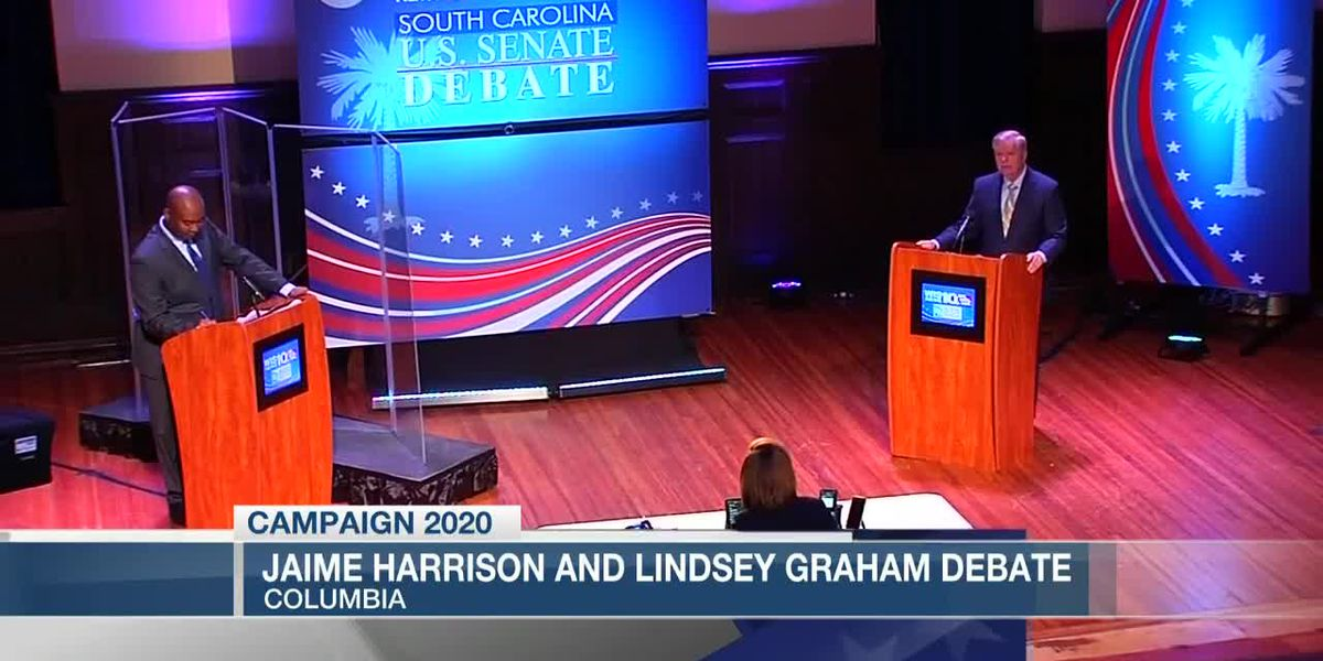 S.C.'s first Senate debate highlights differences between Graham and Harrison