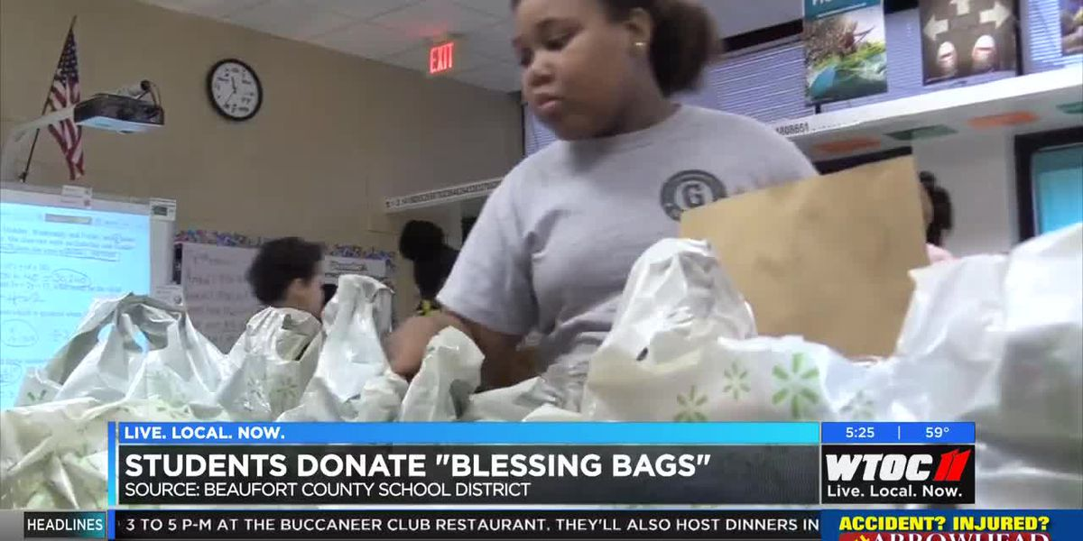 Lowcountry students donate 'blessing bags' to the homeless