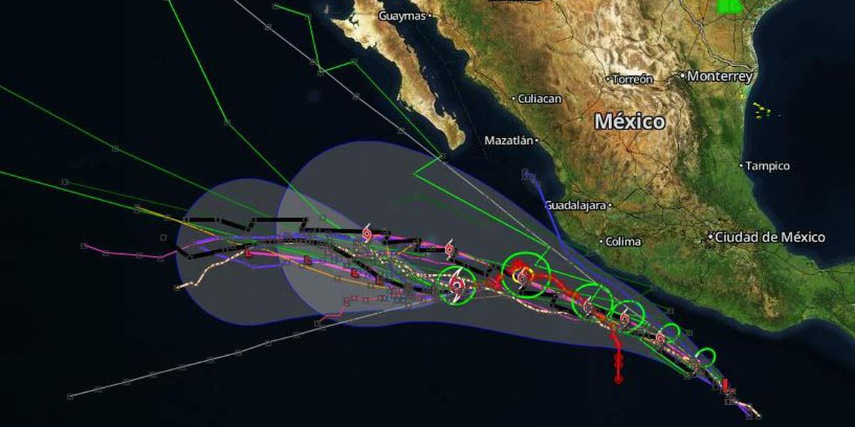 Tropical depression forms south of Mexico