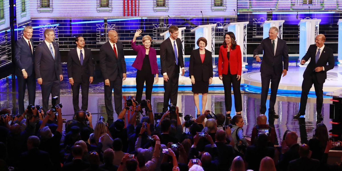 Democrats clash in 2020′s opening debate, aiming at Trump
