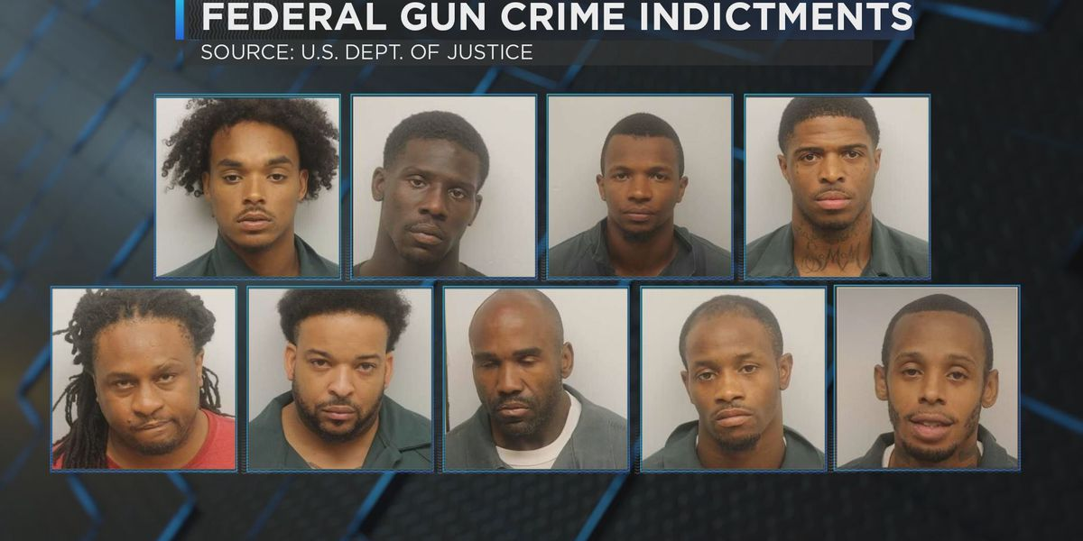9 Savannah residents indicted on federal gun, drug charges