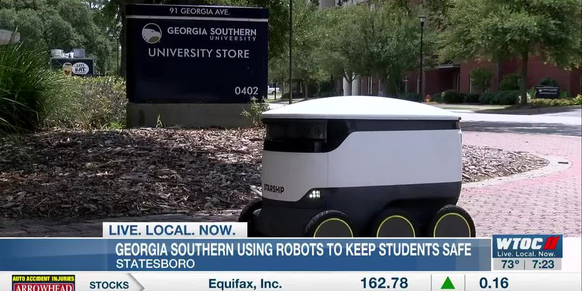 Robots delivering food at Georgia Southern to help keep students safe