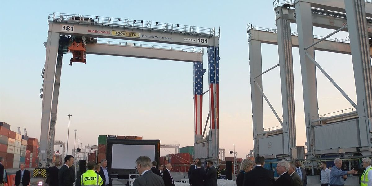 Savannah Port boosts its reliance on electric-powered cranes