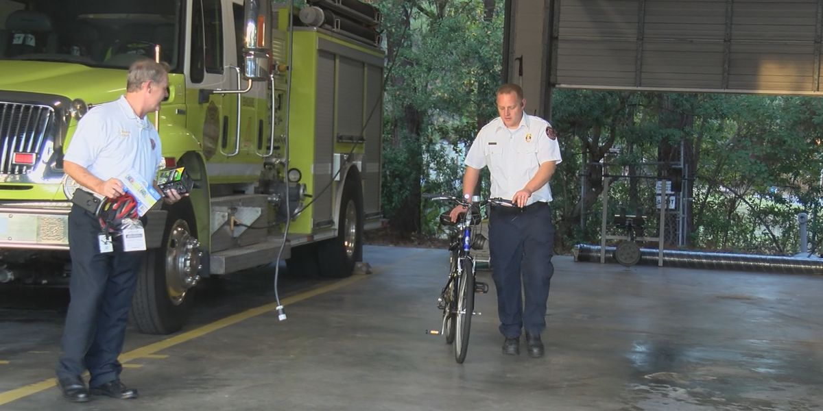 Chatham Co. Emergency Services presents child with bike