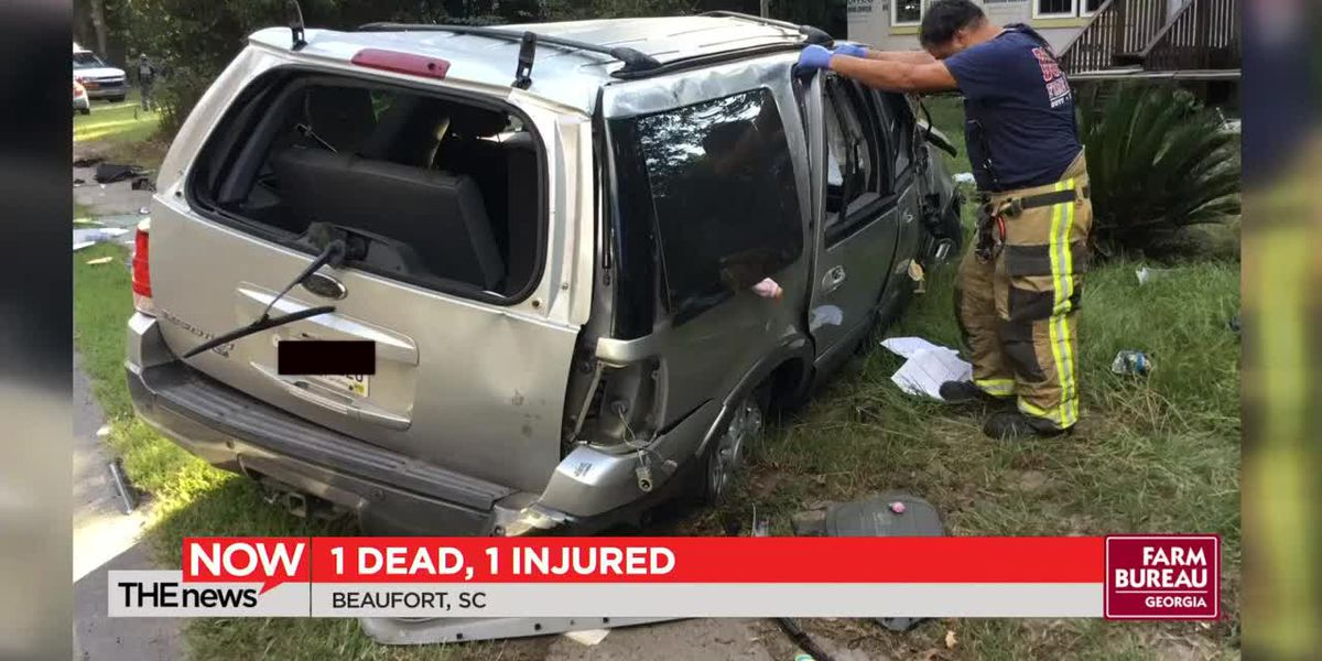 1 dead, 1 injured in Beaufort car crash