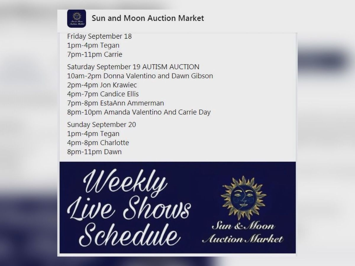 Online auction raising money for Autism Speaks