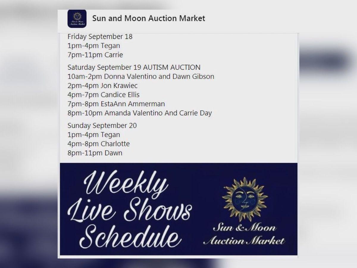 Online auction raising money for Autism Speaks