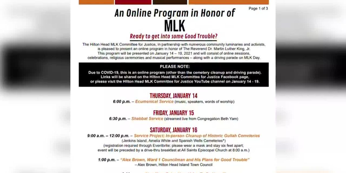 Education, Celebration, Service Planned on Hilton Head to Honor Martin Luther King
