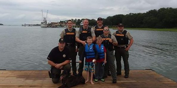 Lowcountry deputies help autistic twins celebrate birthday
