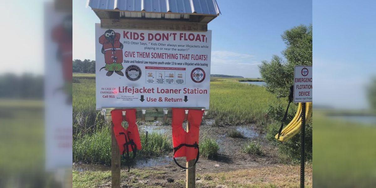 Bryan County installs life jacket loaner stations at every boat ramp