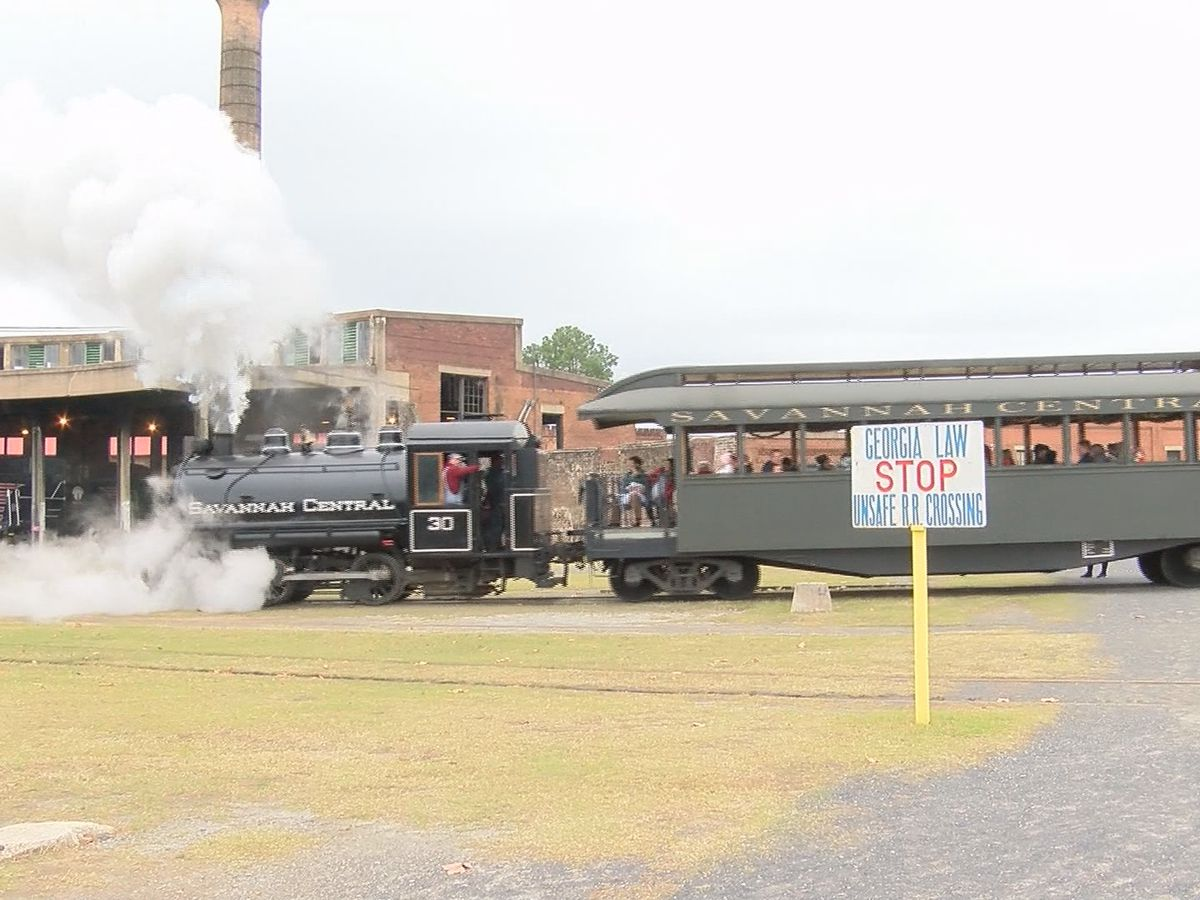 10th annual Savannah Santa train held at Georiga Railroad Museum