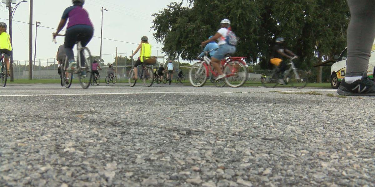 Family honors legacy of Ahmaud Arbery with community bike ride
