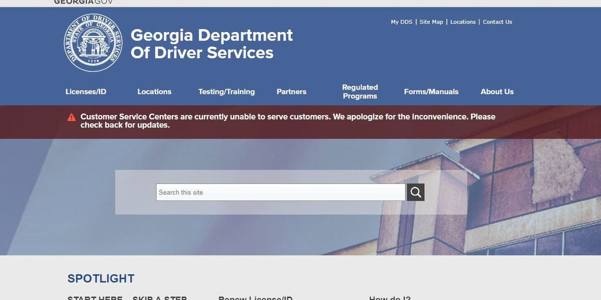 GA Dept. of Driver Services network issue resolved