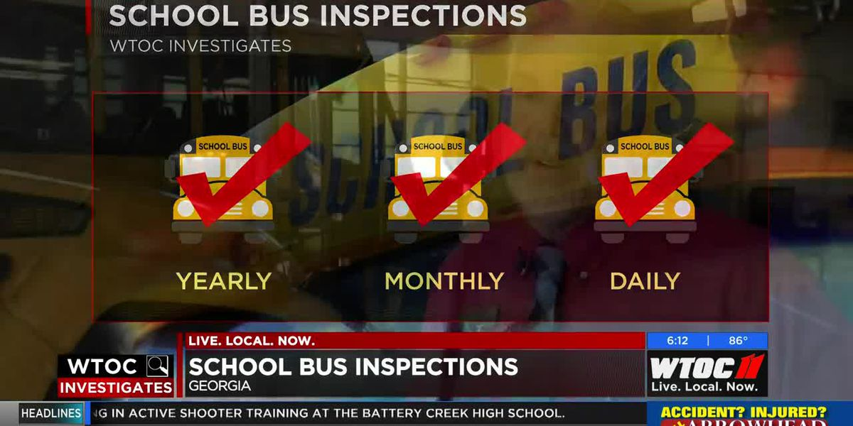 WTOC Investigates: School bus inspections in Georgia