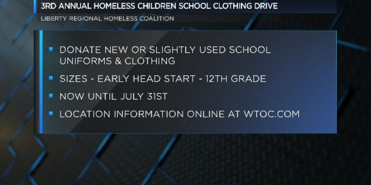 3rd Annual Homeless Student School Clothing Drive underway in