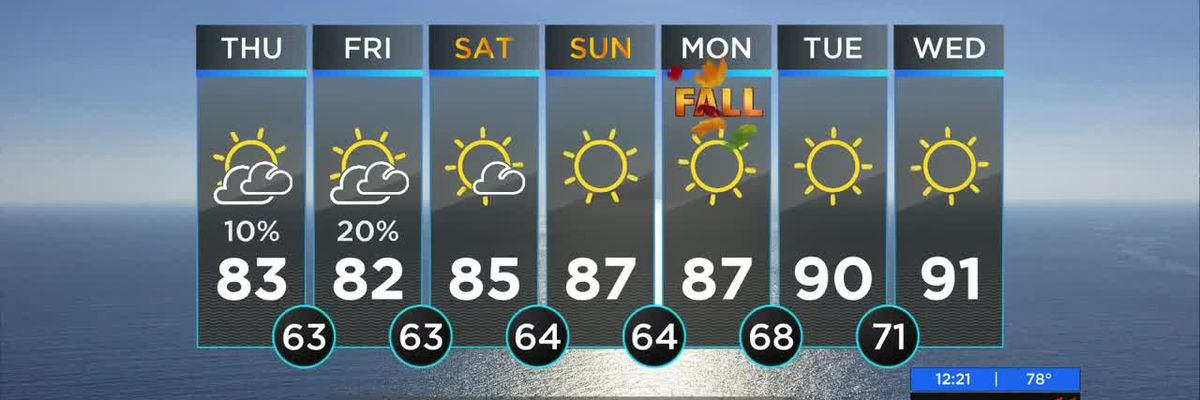 Dave's Thursday Noon WX