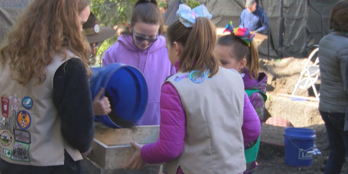 Girl Scouts find more than artifacts at Archaeology Day