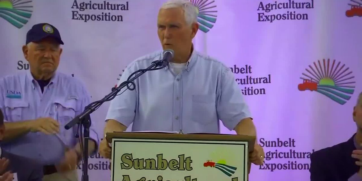 Vice President Mike Pence spoke today at the Sunbelt Ag Expo earlier today