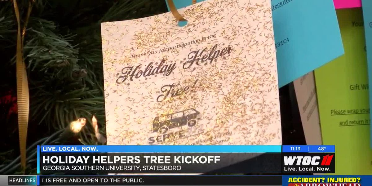 Holiday Helpers Tree kicks off at Georgia Southern