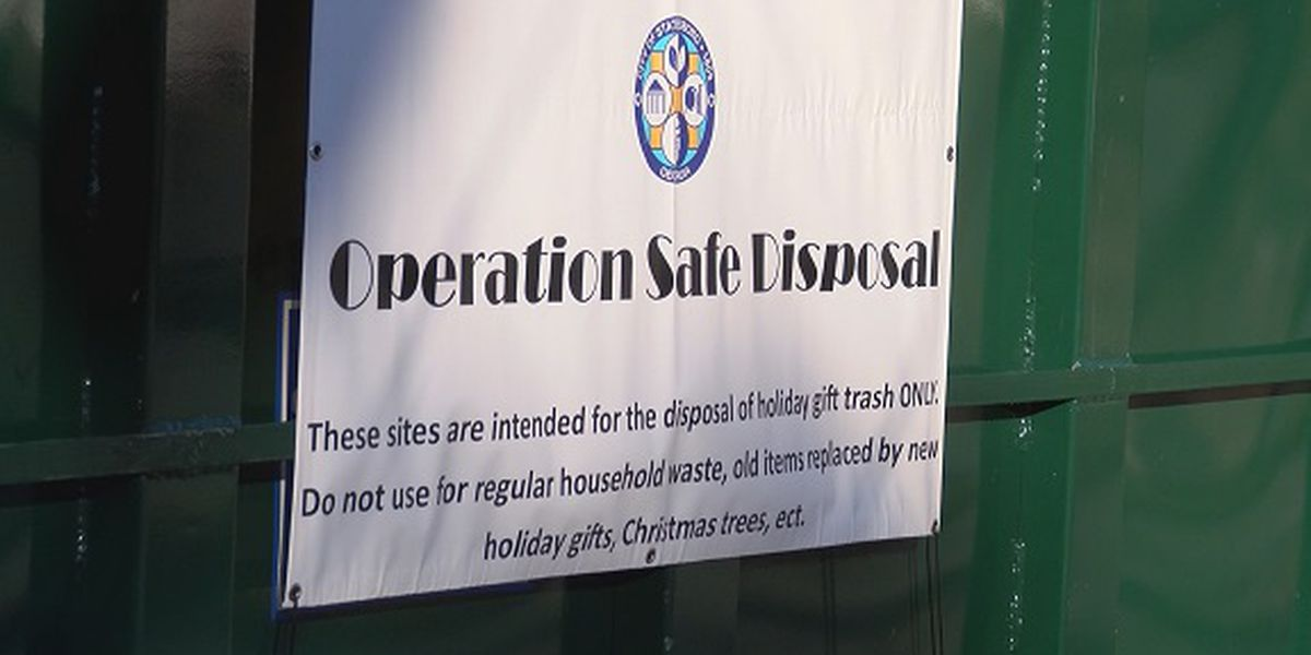 Statesboro PD puts containers out around town for empty Christmas boxes