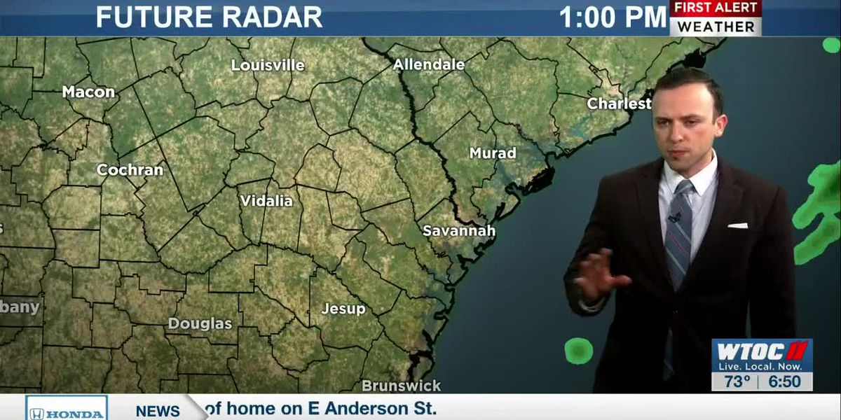 Scattered storms forecast to pop-up Tuesday afternoon