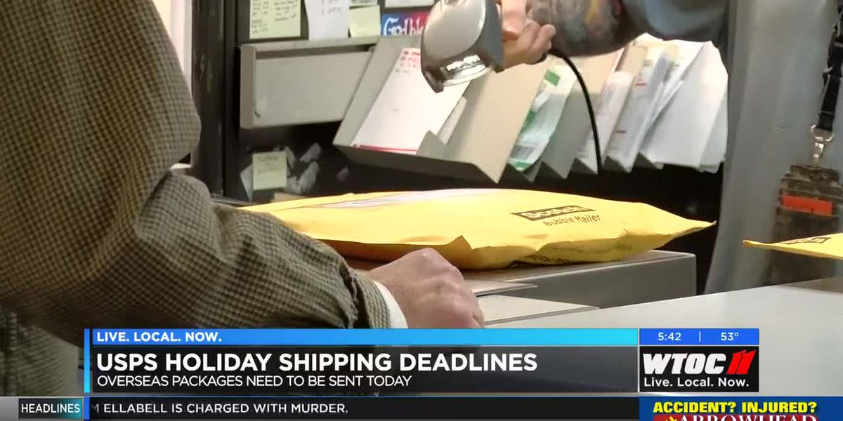 USPS holiday shipping deadlines begin today