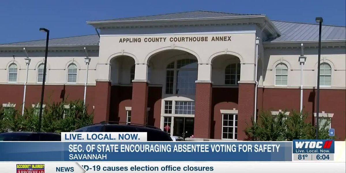 Ga. Secretary of State encourages use of absentee ballots after COVID-19 causes election office closures