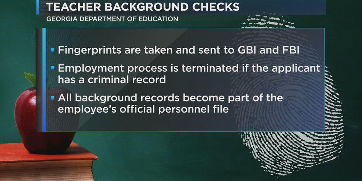 FACTS: Ga teacher background check process