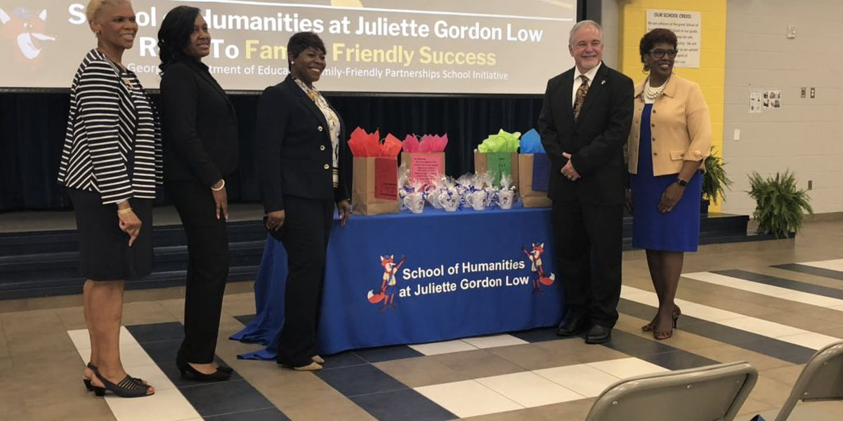 School of Humanities at Juliette Gordon Low Elementary takes 'family-friendly' honor