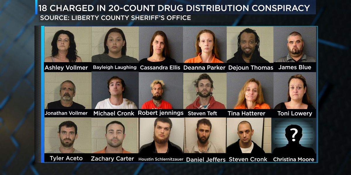 18 charged in Ga. multi-county drug sting