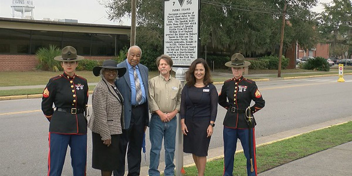 Parris Island historical marker unveiled Friday
