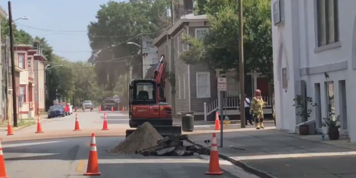 Gas leak capped at Park Ave., Jefferson St.; intersection remains closed for repairs