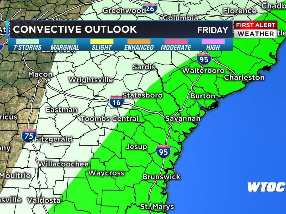 First Alert Weather Day - Widespread Rain, Couple Strong Storms, Friday