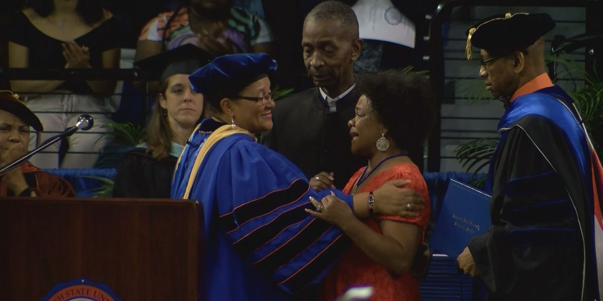 Shooting victim honored with posthhumous diploma at Savannah State graduation