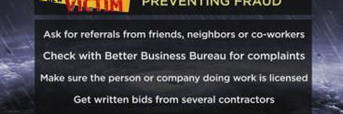 Don't Be a Victim: Storm Scams
